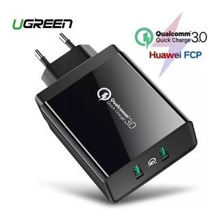 Carregador Rápido Ugreen Quick Charge 3.0 Dual Usb Samsung