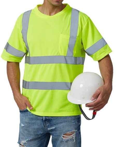 T Shirt Ansi Class 3 Reflective Safety Lime Large Grande