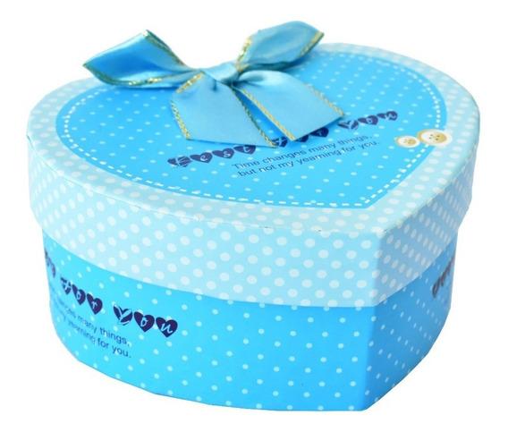 Caja De Carton Con Diseño Color Azul Ideal Para Regalo