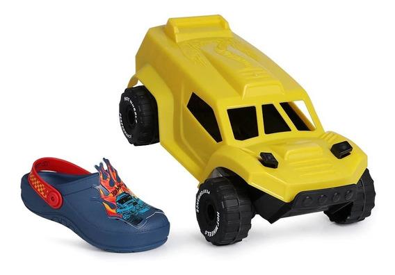 Sandália Infantil Grendene Hot Wheels 22176-original