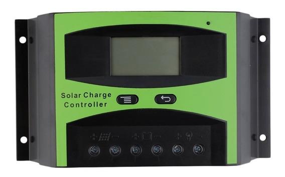 Controlador De Carga Solar 40a Lcd Automático 12-24v
