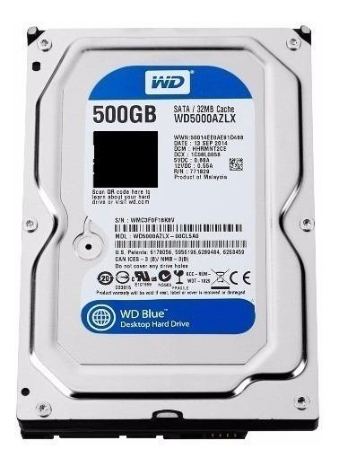 Hd 3.5 Western Digital Blue 500gb Sata 3 Novo Com Garantia