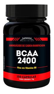 Bcaa 2400 - 100 Cápsulas - Nitech Nutrition