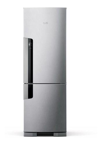 Geladeira frost free Consul CRE44A inox com freezer 397L 110V
