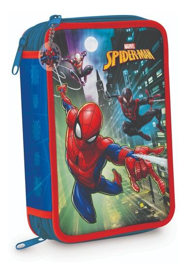 Cartuchera 3 Pisos Hombre Araña Spiderman Orig Mundo Manias