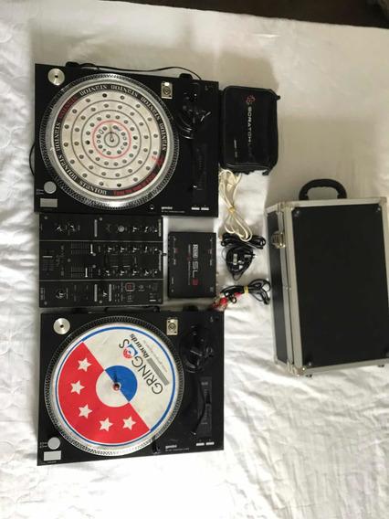 Par Toca Discos + Mixer (case) + Serato Sl3