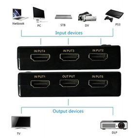 3d 1080 P 5 Portas 4 K * K Hd Hdmi Interruptor Switcher Spli