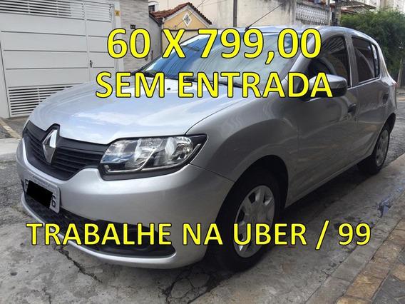 Renault Sandero 2015 Completo Para Aplicativo Uber 99 Taxi