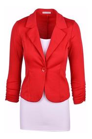 Kit 3 Blazer Feminino, Fashion, Alta Costura, 1 Botão Lindo