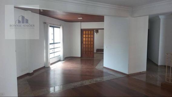 Apartamento Para Venda E Locação Em Moema, 4 Dormitórios, 2 Com Suítes, 5 Banheiros, 3 Salas, 230 M², São Paulo. - Ap0741