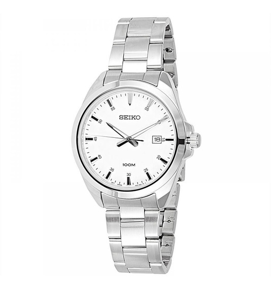 Reloj Seiko Sur205p1 Acero Plateado/blanco Para Caballero