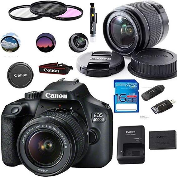 Nova, Sem Uso - Câmera Digital Canon Eos 4000d / Rebel T100