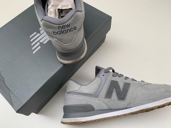 Tênis New Balance 574 Ml574nfd Masculino Cinza Original 42