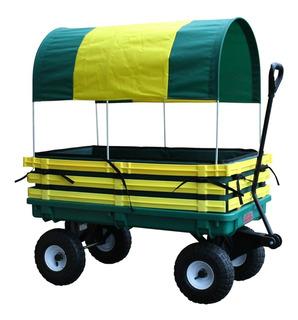 Carro Wagon Con Mango Y Estantes De Polietileno Para Niños