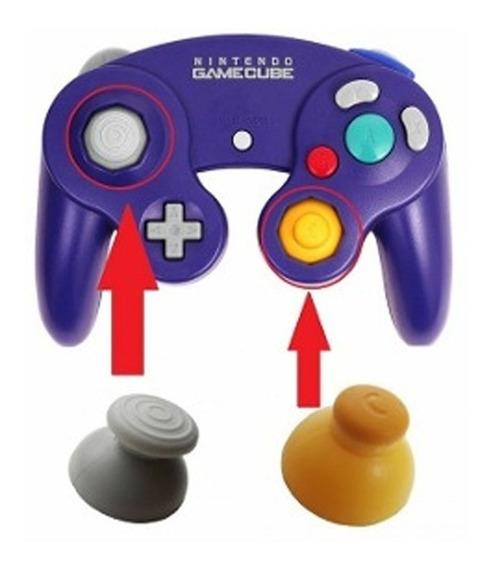 2 Pares Botões Gamecube Nintendo Thumbsticks Caps Analogico