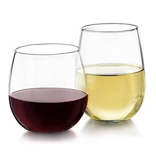 Copas De Vino Steamless De Libbey Para Vinos Blancos Y Rojos