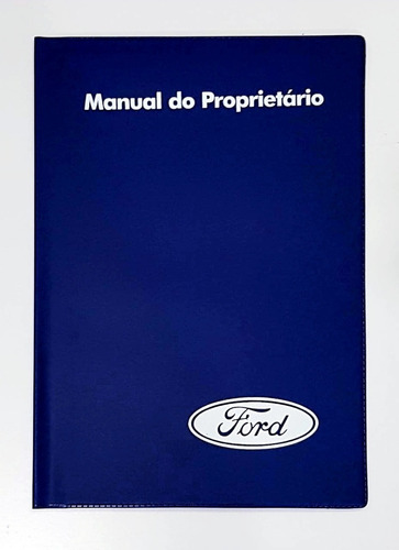 Imagem 1 de 3 de Capa Porta Manual Proprietário Ford Pvc