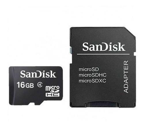 Cartão Memória Micro Sd 16gb Adaptador Microsdhc Sandisk Tf