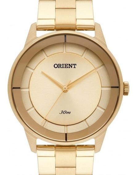 Relógio Orient Feminino Dourado - Fgss0108 K1kx C/ Nota