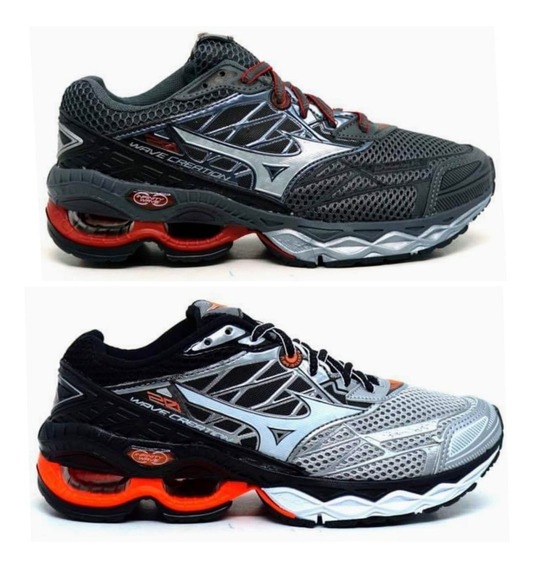 Kit 2 Pares Tenis Mizuno Wave Creation 20 Frete Gratis