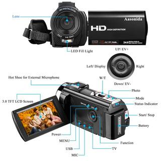 Videocamara Blogging Control Remoto 30fps 1080p Hd Youtuber