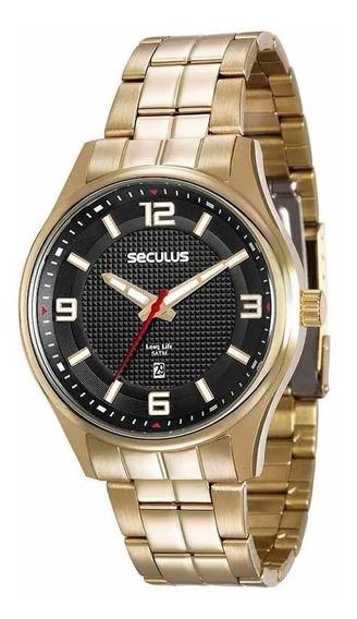 Relógio Seculus Masculino Long Life Analógico 20571gpsvda1