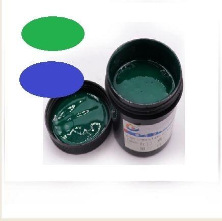 Tinta Marcara De Solda Na Opção Verde E Azul.