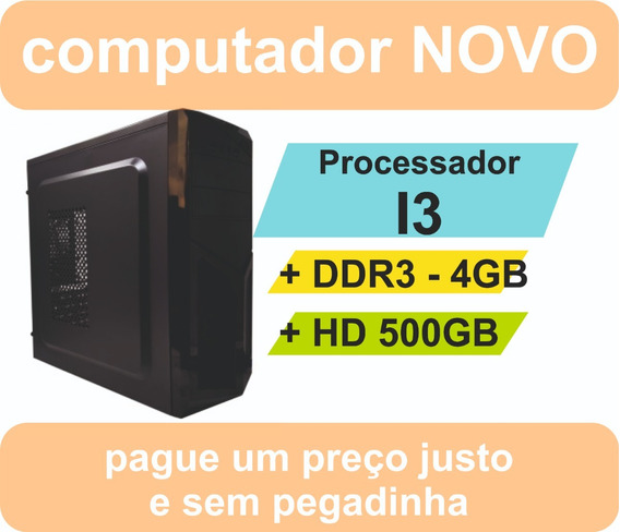 Pc Micro Computador Desktop Intel I3 Hd500 4gb Ddr3
