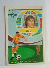 Figurinha Zico Brasil Nova Copa Do Mundo 1978 Argentina