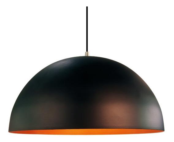 Lustre Pendente Meia Lua Onix 60cm Cobre Orby 2,5m De Fio