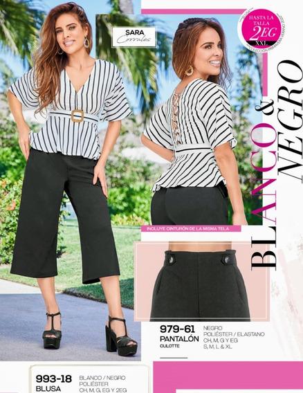 Pantalón Culotte Negro 979-61 Cklass Primavera-verano 2020