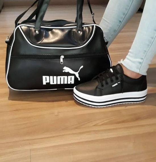 Kit Puma Feminino (bolsa+tênis)