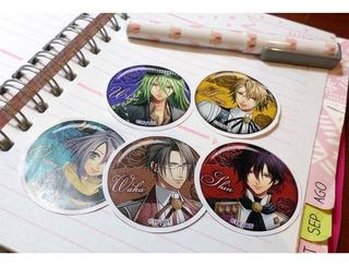 Set De 5 Stickers Circulares De Anime - Amnesia Yaoi