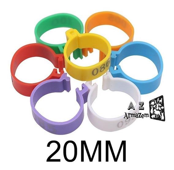 100 Anilha 20mm - Numeradas 1-100 Para Galos, Peru