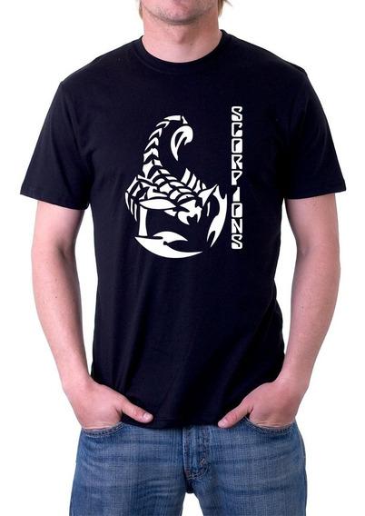 Camiseta Banda Scorpions Camisa Rock In Rio 100% Algodão