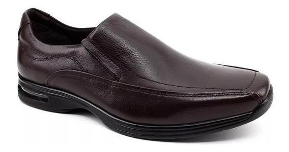 Sapato Democrata Air Spot 448027 + 1 Par Meias Preto Brinde