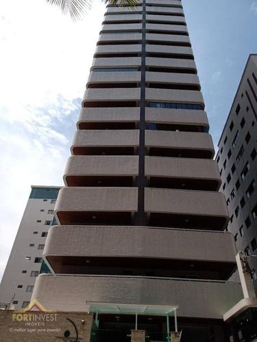 Imagem 1 de 30 de Apartamento Com 3 Dormitórios À Venda, 102 M² Por R$ 700.000,00 - Tupi - Praia Grande/sp - Ap2335