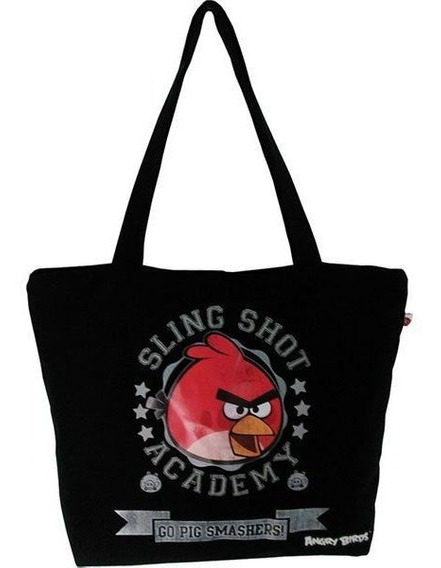 Bolsa Shopping Bag/tote Angry Birds 1bolso Preta Santino