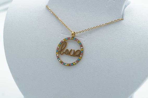 Collar Love De Colores Acero Inoxidable