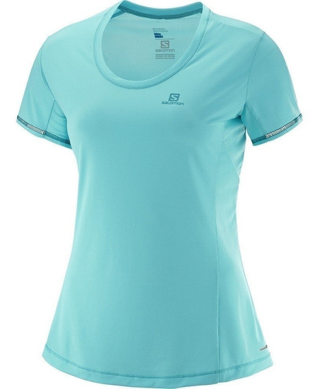 Remera Salomon Mujer - Agile Ss- Running S+w