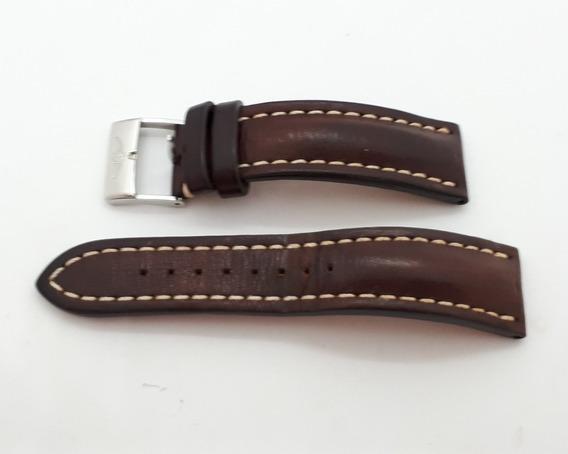 Pulseira Original Breitling - Couro Marrom Tamanho 22cm