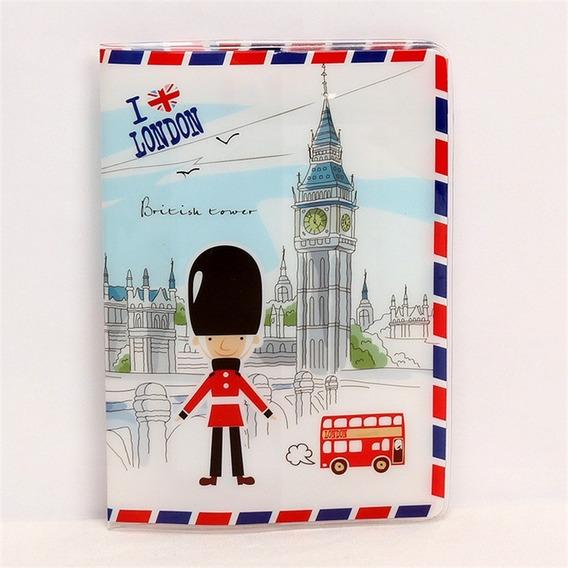 Capa Passaporte I Love London Big Ben Guarda Ingles Cartão