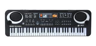 61 Teclas Negro Música Digital Piano Electrónico Niños