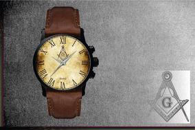 Relógio De Pulso Personalizado Maçonaria Maçon - Cod.1122
