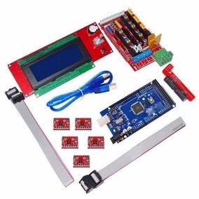 Kit 3d Kit Printer Rampas 1.4 Mega 2560 Mk2b + Mesa Aquecida