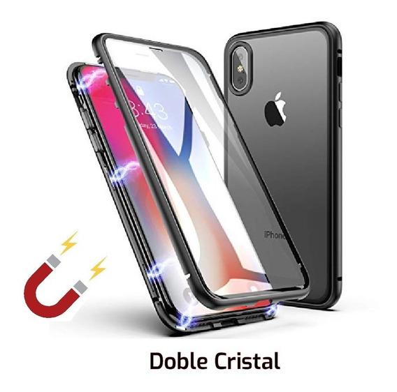 Funda Magnetica 360 Doble Cristial Phone X Xr Xs Max 6 7 8