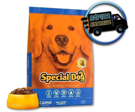 Ração Special Dog Premium Para Cães Adultos Sabor Carne 20kg - Médio, Grande Porte