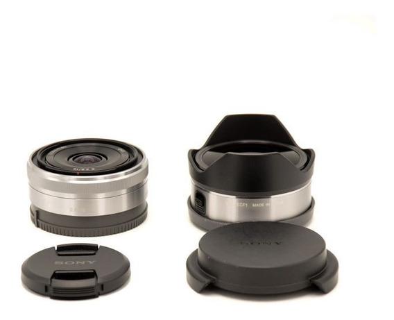 Lente Sony 16mm E Conversores Olho De Peixe E Ultra Wide