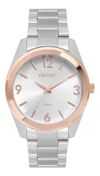 Relógio Condor Feminino Co2035mto/3k Prata Rose Analogico