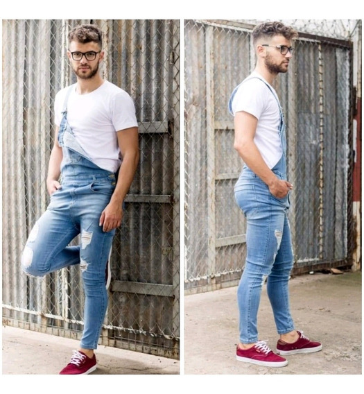 Jardinero Jeans Elastizado Diponibles De Hombre Moda